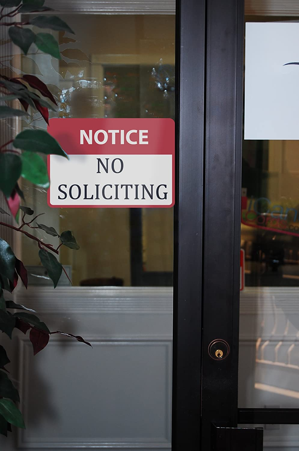 6 Pack Aluminum Notice No Soliciting Sign Large Solicitor Warning Sign 12x18