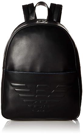 dc35443dfa85 Emporio Armani Hommes sac à dos logo maxi Noir Une Taille  Amazon.fr   Vêtements et accessoires