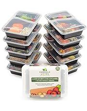 [Lot de 10] Emerald Living 2 Compartiment sans BPA Meal Prep conteneurs