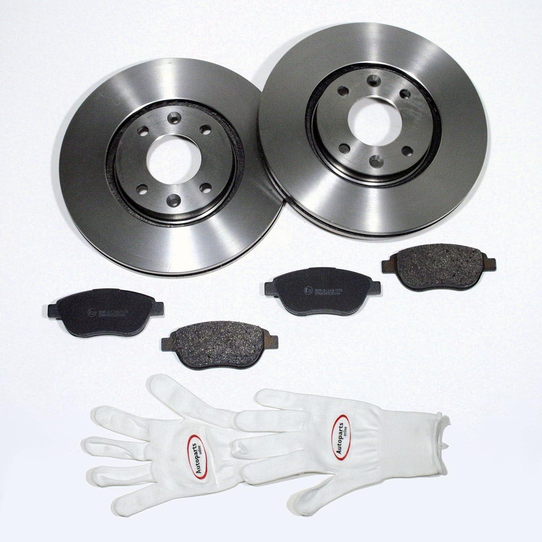 Autoparts-Online Set 60011673 Bremsscheiben /Ø 266 mm//Bremsen Bremsbel/äge f/ür Vorne//die Vorderachse