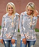 Angashion Women Hoodies-Tops- Floral Printed Long
