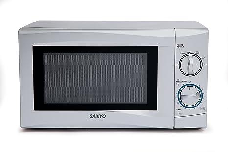 Sanyo EM-S105AS - Microondas (17 L, 700 W, Giratorio, Plata ...