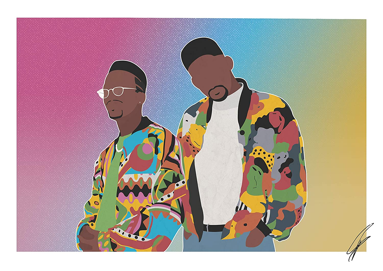 Von DJ Jazzy Jeff /& The Fresh Prince inspirierte Illustration.