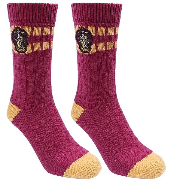 Calcetines color burdeos y amarillo HARRY POTTER: Amazon.es: Ropa y accesorios