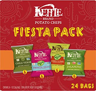 product image for Kettle Brand Potato Chips Fiesta Variety Pack, 24 Ct