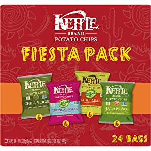 Kettle Brand Potato Chips Fiesta Variety Pack, 24 Ct