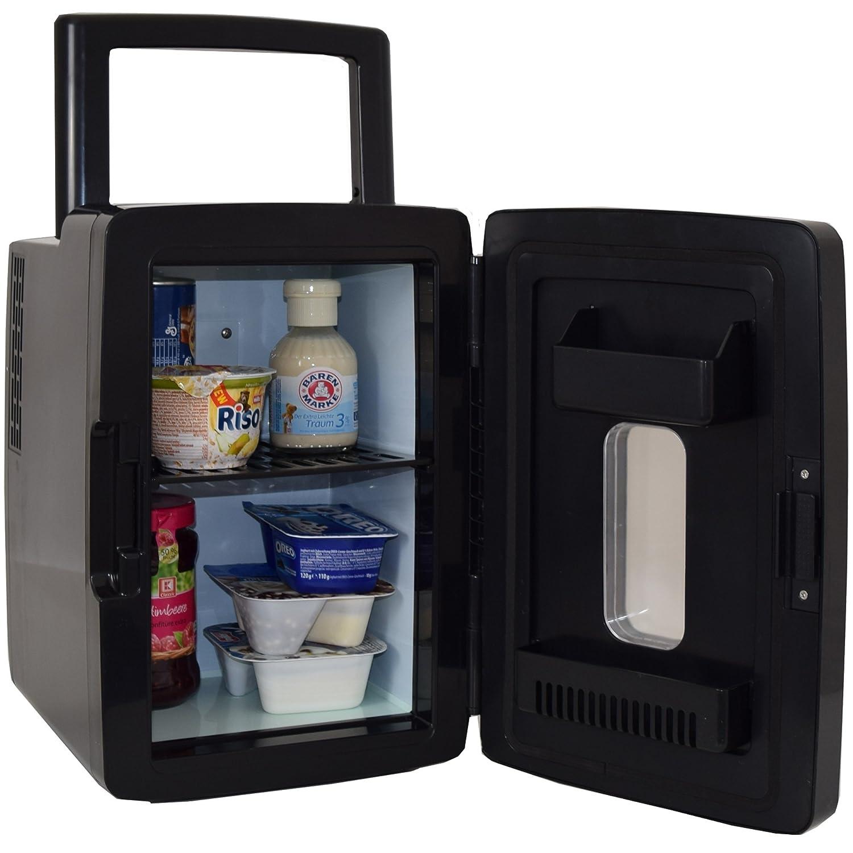 Gino Gelati 2 in 1 Mini Kühlschrank mit Kühl- und Heizfunktion an der Steckdose und am Zigarettenanzünder anschließbar GG-57W-12L BL Frosty