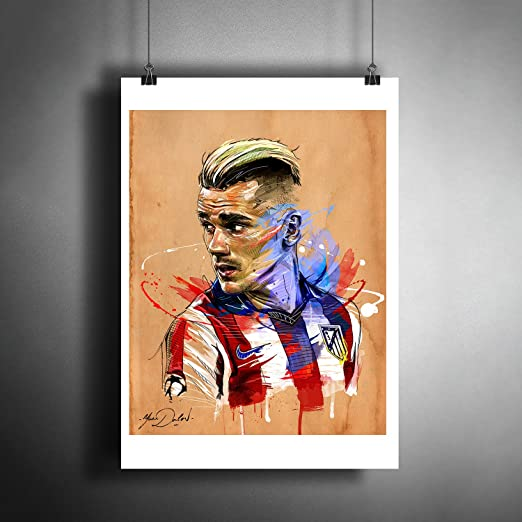 Antoine Griezmann Atletico Madrid Star Football Wall Art Poster format A0