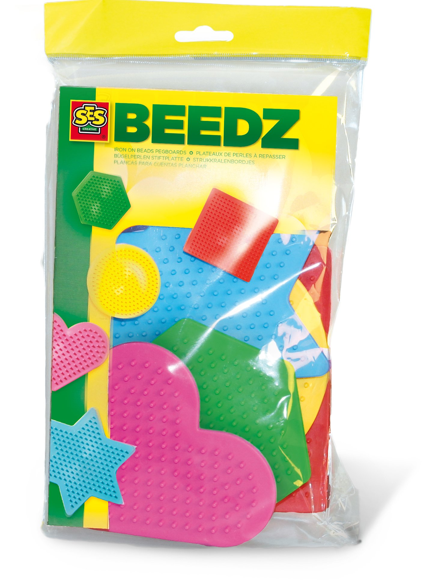 SES Creative Iron On Beads Pegboard - 5 Small Pcs. Arts & Crafts
