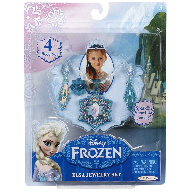 Disney - Film Frozen Movie Elsa Little Girls Jewellery Anna Jewels Snowflake Flower Necklace Earrings for Girl Frozen Princess Kids Jewellery Sets for Girls (Anna) JakksPacific