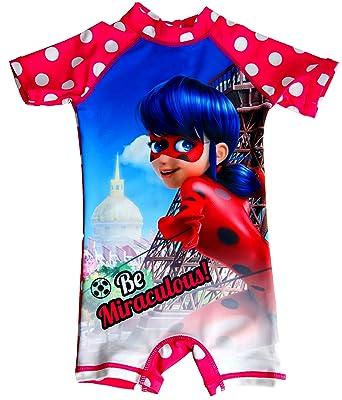 Miraculous Ladybug - Traje de una Pieza - para niña Rosa Rosa 5 ...