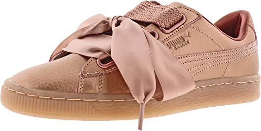 PUMA - Womens Basket Heart Copper Shoes, Size: 9 B(M) US, Color: Copper Rose