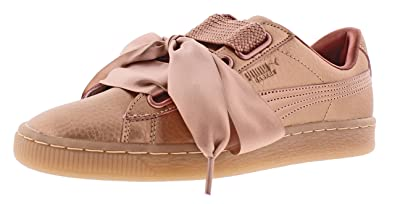 new styles b0336 07470 Amazon.com | PUMA Women's Basket Heart Copper Ankle-High ...