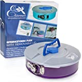 Springform Pan 10 Inch for Baking Cake and Cheesecake from Elsterware Leak-Resistant, Easy Release Spring Clip, and Removable Bottom Allow Pans Nonstick Separation to Reveal a Masterpiece. Bake Easy!