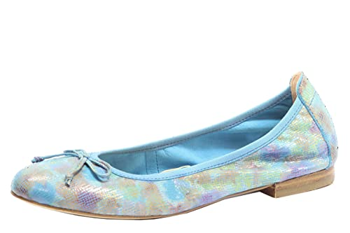 new style f0214 c1dd2 CAPRICE 9-22102-28 Ballerina Blue 800 Blau Blumen floral Damen Leder Tasina  G-Weite
