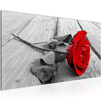 Amazon.de: Bilder Blumen Rose Wandbild Vlies - Leinwand Bild XXL ...