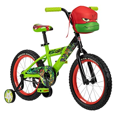Teenage Mutant Ninja Turtles Boys Bicycle, 16-Inch Wheels, Green: Sports & Outdoors