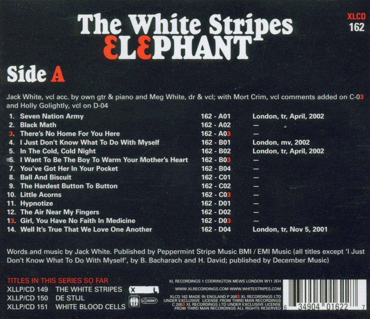 white stripes elephant promo vinyl bruin blog