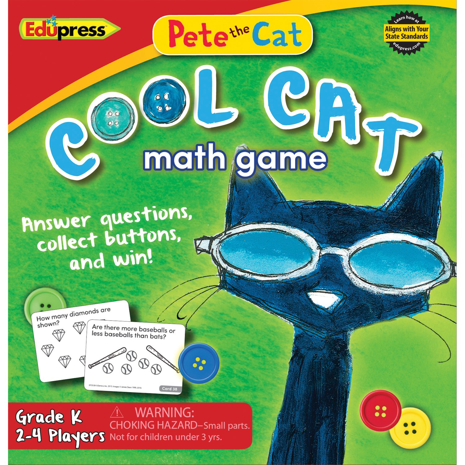 Edupress Pete the Cat Cool Cat Math Game Grade K - EP63530