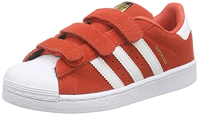 adidas Superstar CF C, Chaussures Mixte Enfant, Rouge (Red FTWR White),