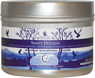 product image for Way Out Wax Aromatherapy Scented Candle, Sweet Dreams Fragrance, (3 oz Medium Travel Tin); Hand Poured Soy Candles Scented w/Pure Essential Oils, All-Natural