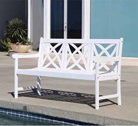 Amazon.com : Eco-Friendly Patio Furniture 5-foot Outdoor White Wood ...