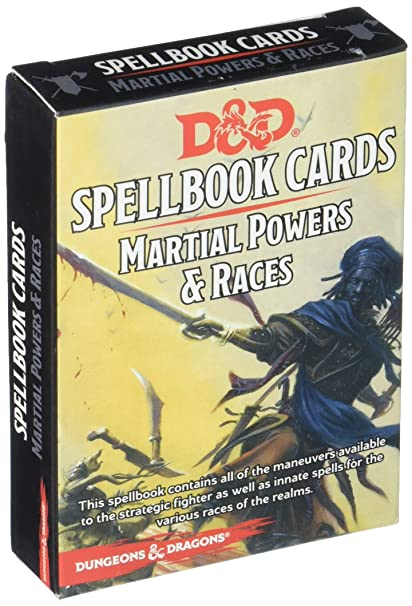 D&D Spellbook Cards Deck (Martial Powers and Races)