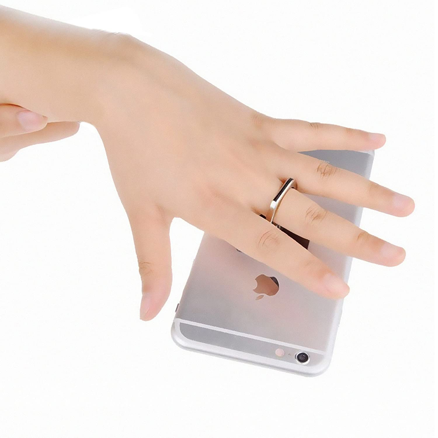 Smartphone Finger Ring Holder Bundle Of 5 Universal Scrap Gold Simple Recovery From Circuit Board Fingers Grip Stand 360rotation Phone Kickstand Car Mount With 5pcs