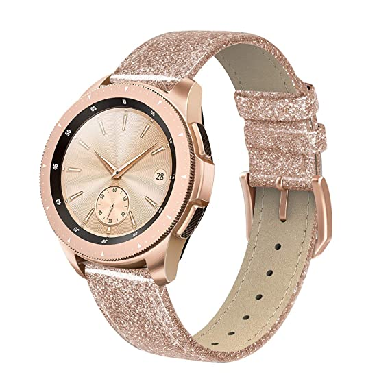 0f2743315 SWEES Leather Band Compatible for Galaxy Watch 42mm & Gear S2 Classic & Gear  Sport,