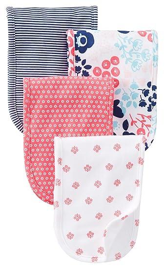 Amazon Com Carter S Burp Cloth Pink Navy Print 4 Ct Baby