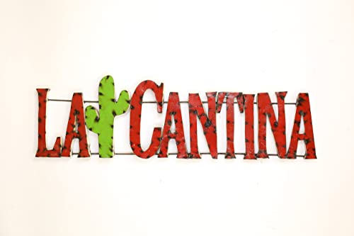 Mexican Imports La Cantina Sign-Recycled Metal Art-Wall