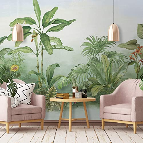 tropical home decor amazon com murwall forest wallpaper jungle wall mural drawing tropical home decor fabric coordinated murwall forest wallpaper jungle wall