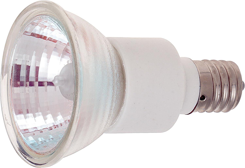 Satco S3439 1//Card 120V 100-Watt JDR Medium Base Light Bulb with FL 36 Beam Pattern with Lens