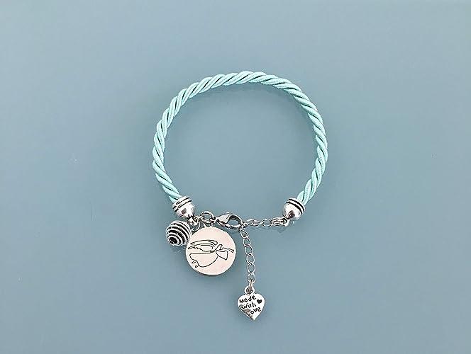 plus récent 0fb3b f098b Bracelet turquoise avec pendentif médaillon ange gardien ...