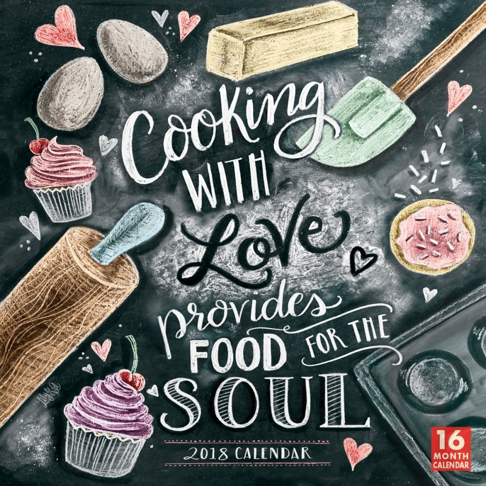 Amazon.com : 2018 Cooking with Love Provides Food for the Soul Calendar :  Office Products