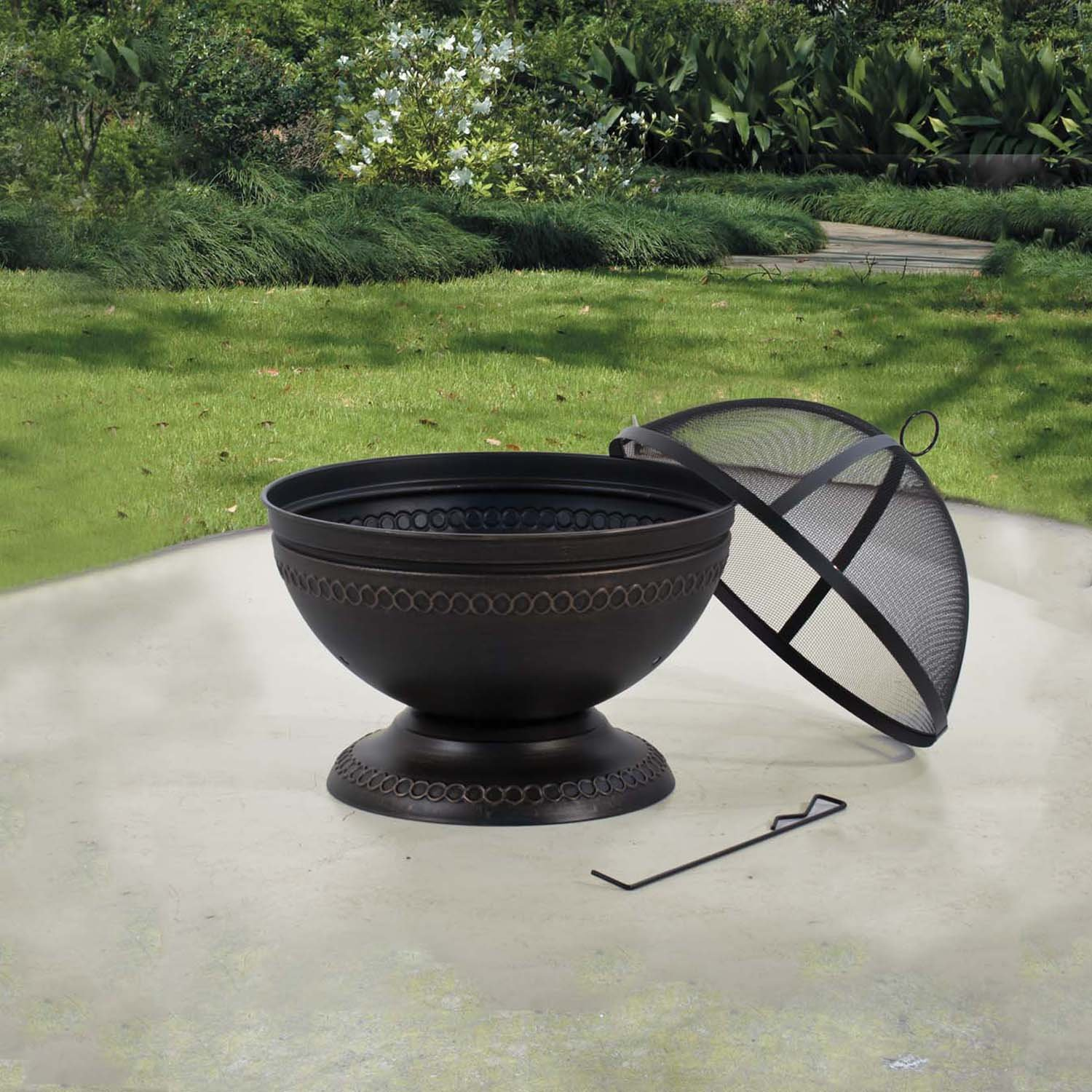 amazon com deckmate 30368 northpoint outdoor fire pit garden