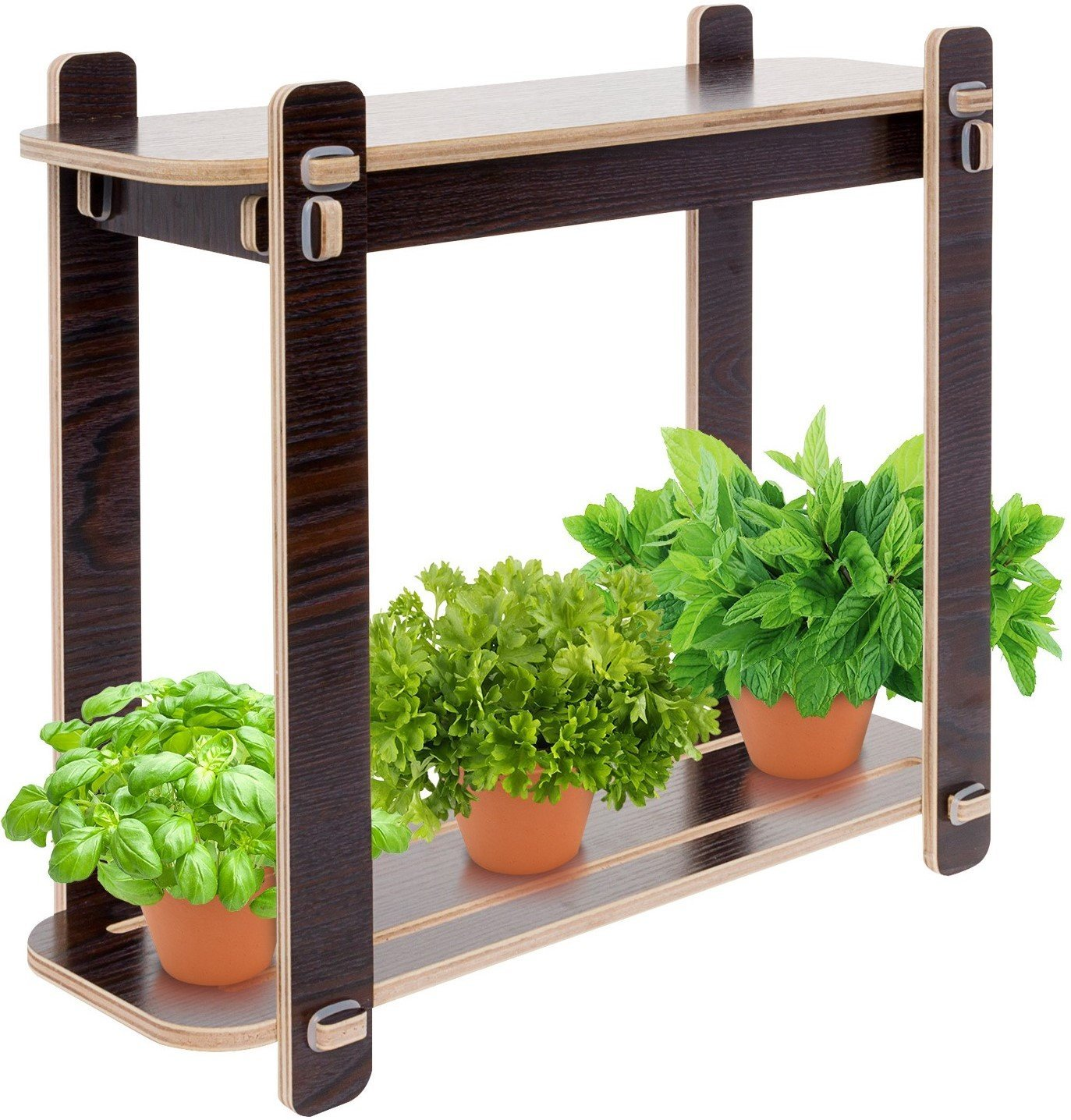Mindful Design Wood Finish LED Indoor Garden - Grow Herbs, Succulents,Vegetables