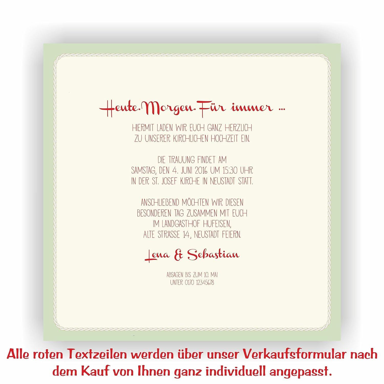 Einladung zur Hochzeit I Brautpaar - - - Schaukel Grün I HO-022 Hochzeitseinladung (40 Stück) B0771LCN7V | Hohe Qualität und Wirtschaftlichkeit  | Qualitativ Hochwertiges Produkt  | Am praktischsten  6cd9da