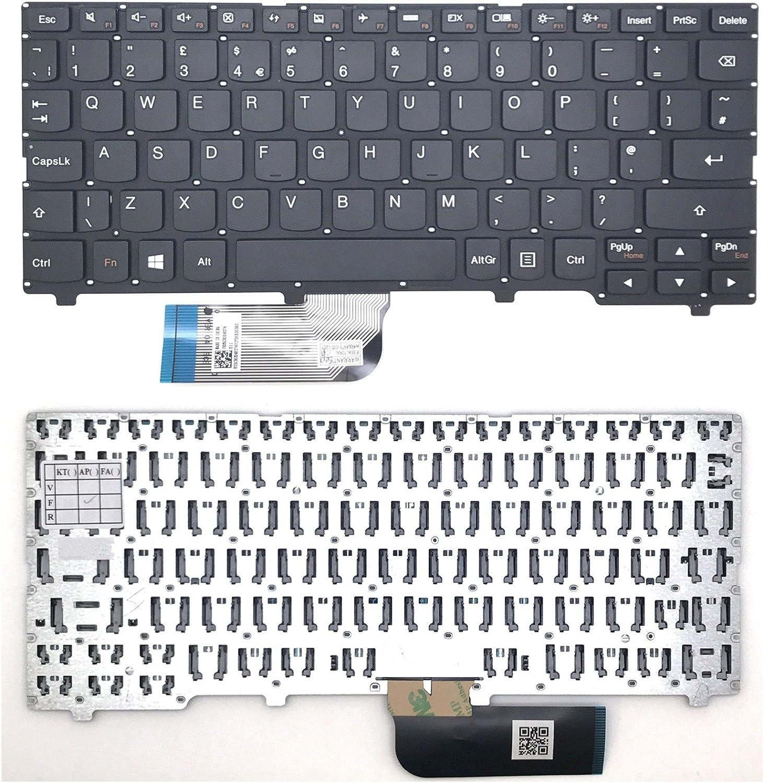 Nuevo Lenovo IdeaPad 100S-11IBY portátil teclado Reino Unido Inglés diseño sin marco negro UK envío