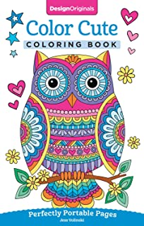 Color Cute Coloring Book Perfectly Portable Pages On The Go