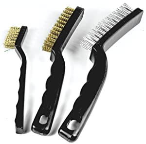 Performance Tool W1149 Brass, and Stainless Steel 3-Piece Brush Set