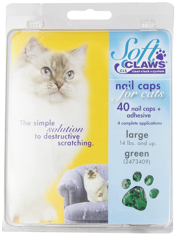Amazon.com : Feline Soft Claws Cat Nail Caps Take-Home Kit, Medium ...