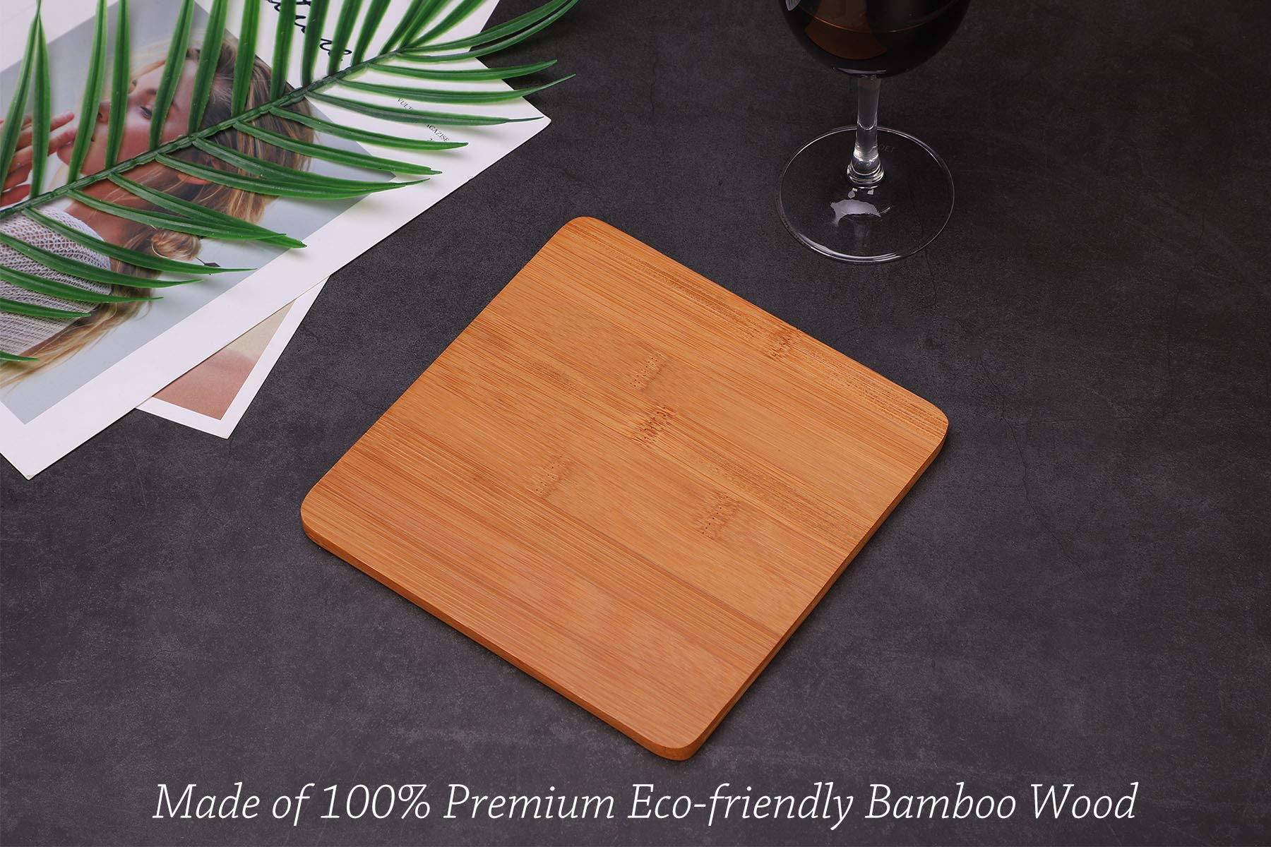 Ceramic Divided Plate with Bamboo Cutting Board - Cheese Board Salad Plate Dinner Plate Cake Plate - Gift Idea - Great Use as Any Occasion (White) by One Goods-1 (Image #5)