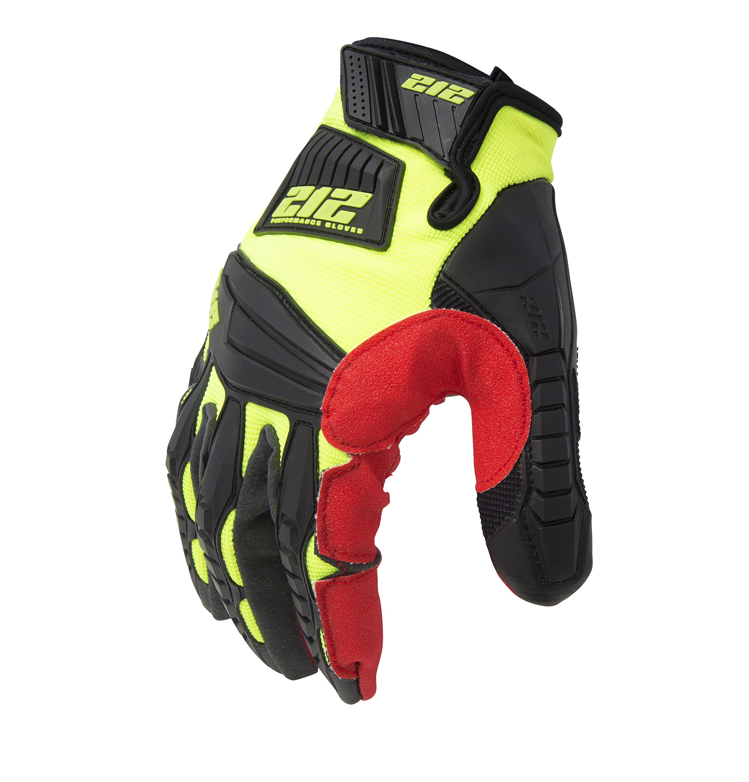 212 Performance Gloves IMP-88-009 Super Hi-Vis Impact Gloves, Medium