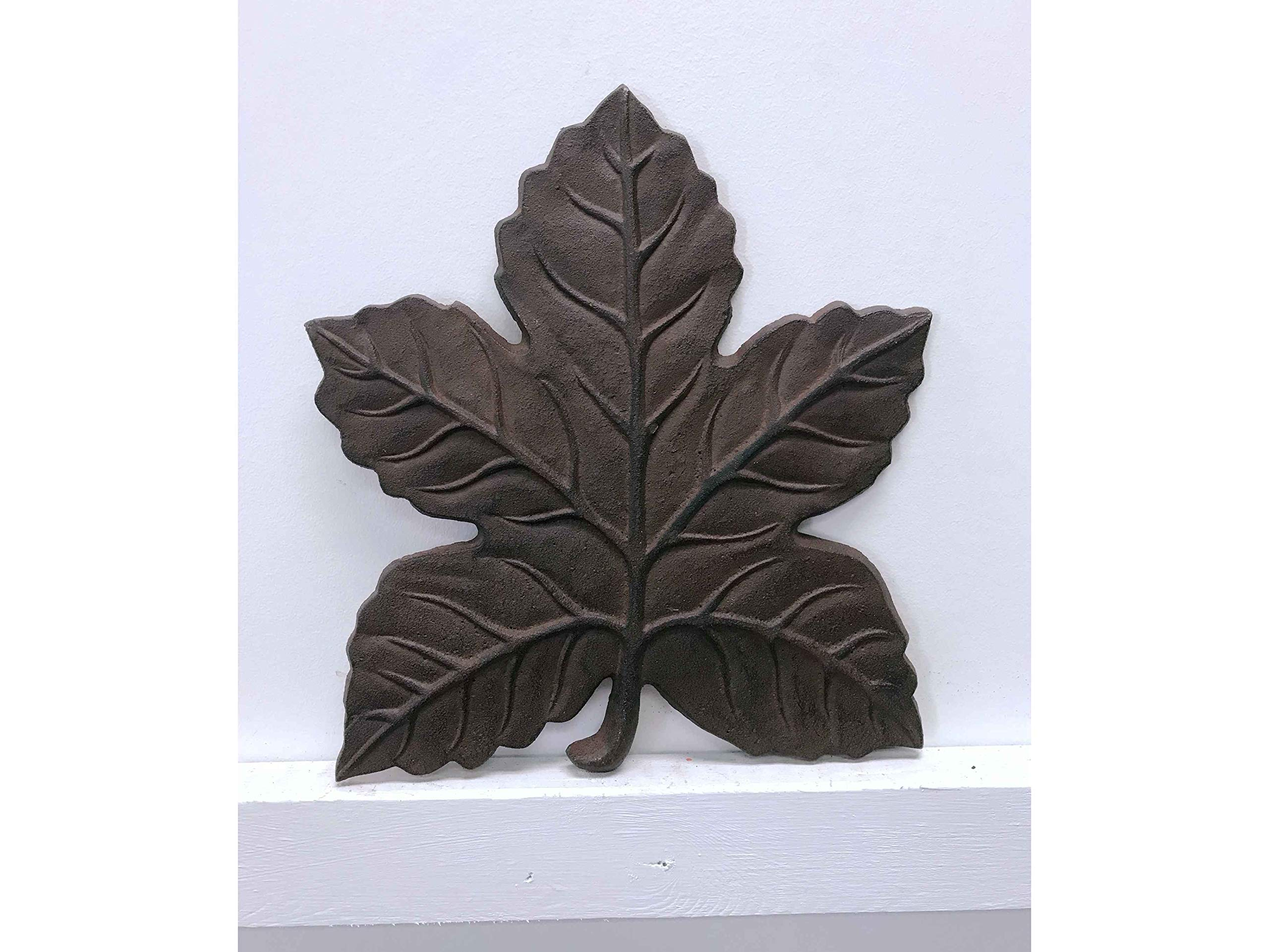 Jcook Home Decor Maple Leaf Cast Iron Stepping Stone