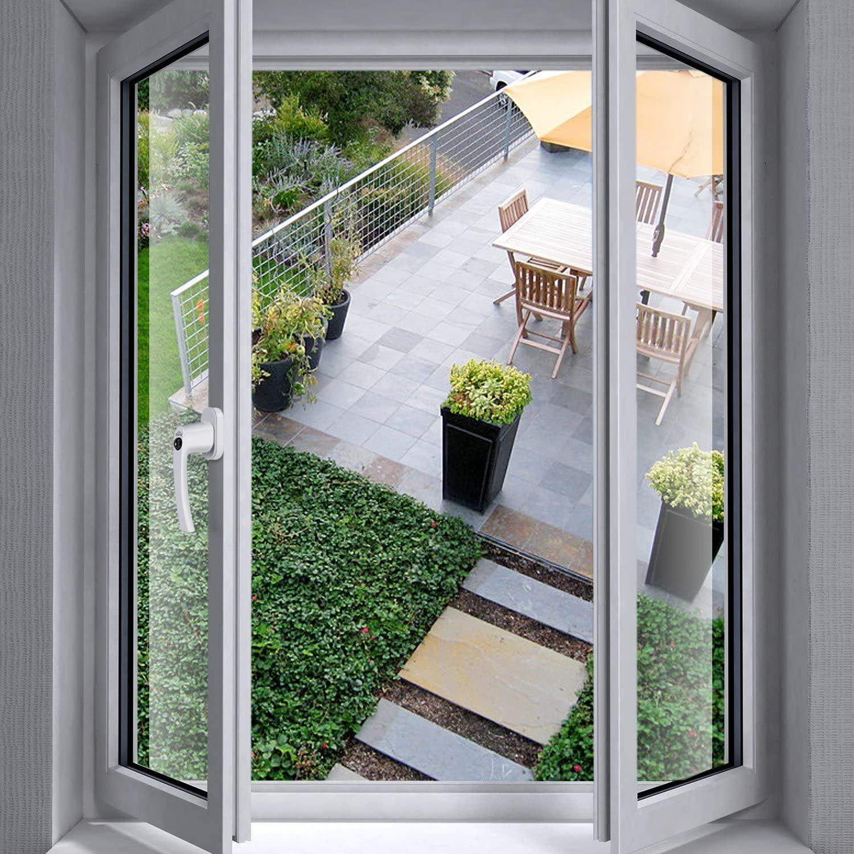SIMBR Fenstergriffe abschlie/ßbare Fenstergriffe kindersicherung abschlie/ßbar im gekippten und geschlossenen Zustand 4 St/ück Aluminium Gleiche Schl/üssel