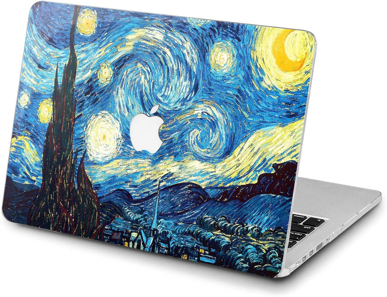 Lex Altern Hard Case for Apple MacBook Pro 15 Air 13 inch Mac Retina 12 11 2020 2019 2018 2017 2016 Girl Laptop Design Painting Touch Bar Starry Night Blue Cover Protective Women Van Gogh Artwork