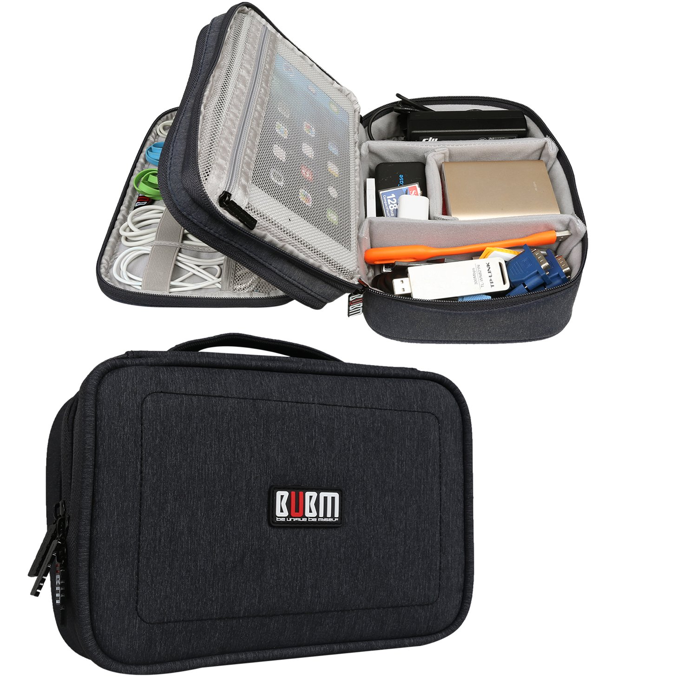 BUBM Estuche para Electrónicos Organizador de Accesesorio Bolsa de Viaje para Cables Cargador,Gadget de