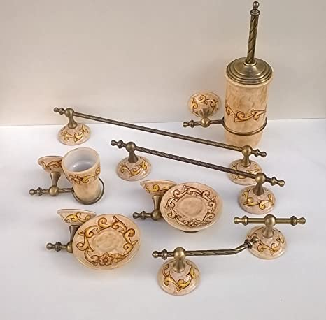Accessori Bagno In Ottone.L Eclisse Ceramiche Artistiche Arredo Bagno In Ceramica E Ottone