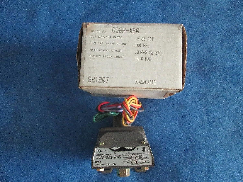 Cd2m A80 Barksdale Dialmatic Pressure Switch 5 80 Psi 160 110 Diaphragm Industrial Scientific